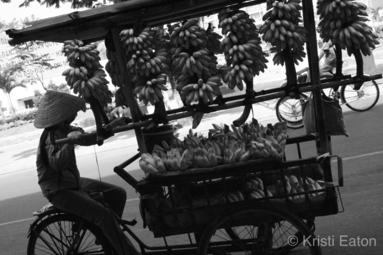 Banana cart in Vietnam
